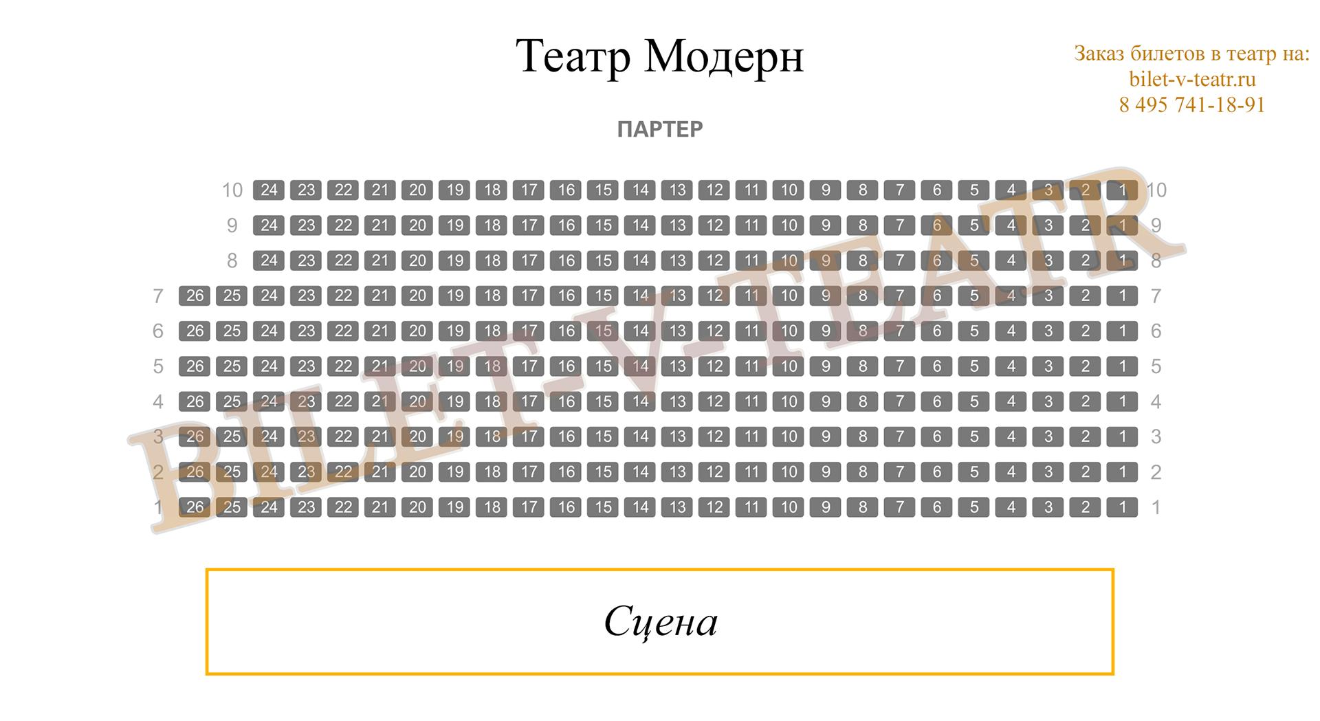 Московский драматический театр модернъ схема проезда